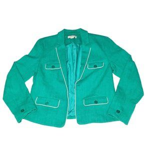 Coldwater Creek Green Teal Blazer Size 8